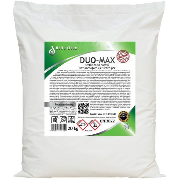 Duo-Max 20 kg - Fertőtlenítő hatású kézi mosogató és tisztítópor