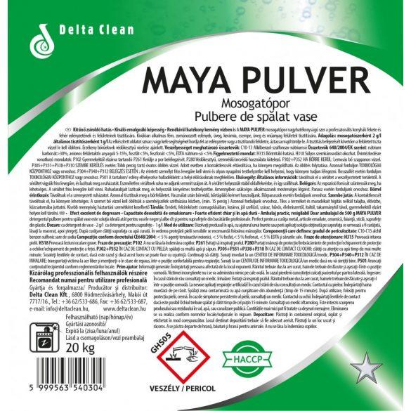 Maya Pulver 20 kg - Mosogatópor