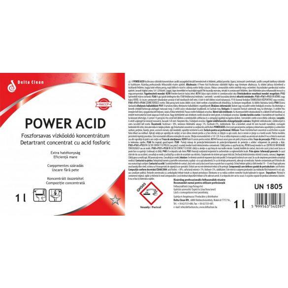 Power Acid 1L - Koncentrált vízkőoldó és savas tisztítószer