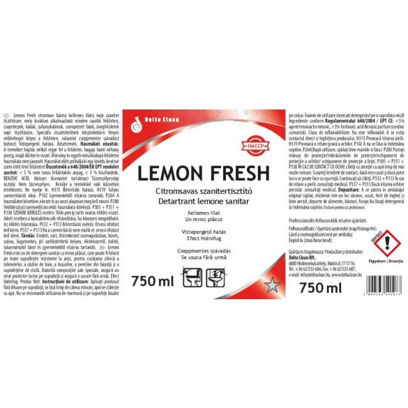 Lemon Fresh 750 ml - Citromsavas szanitertisztító