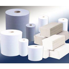 Kéztörlők, ipari törlőpapírok